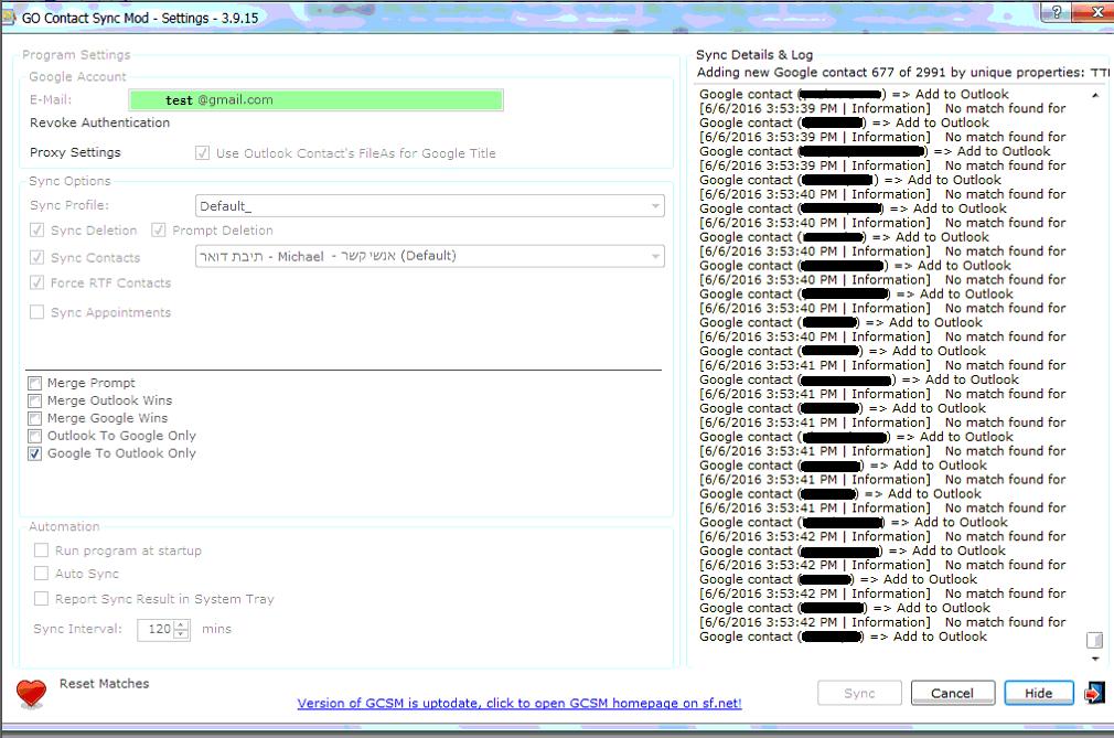 Go Contact Sync Mod