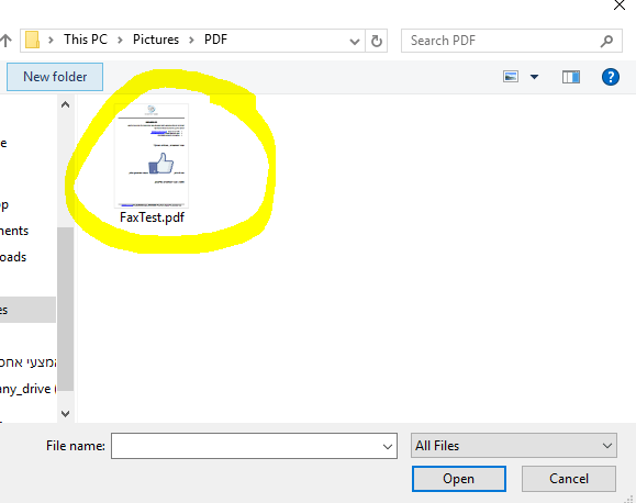 CHOSE PDF FILE