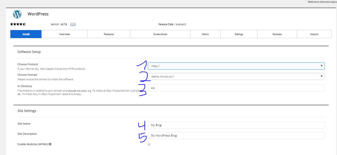 install details