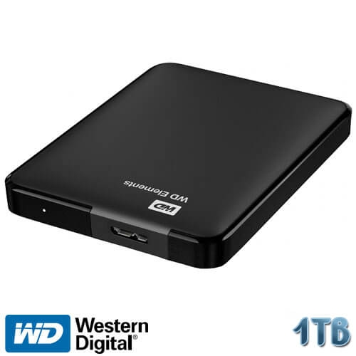 דיסק קשיח חיצוני נייד Western Digital 1TB Elements Portable WDBUZG0010BBK